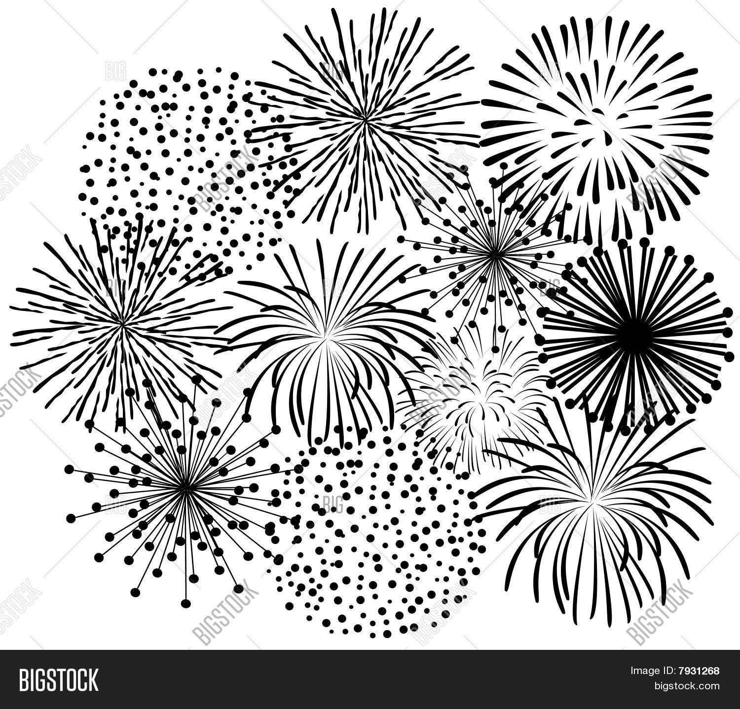 Simple Firework Drawing At Getdrawings