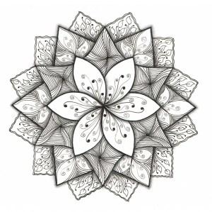 flower easy drawing patterns simple pattern designs mandala floral draw drawings outline cool paper pretty zentangle paintingvalley getdrawings mandalas doodle