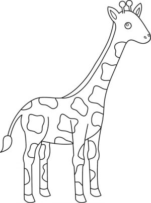giraffe coloring pages animal cartoon drawing simple giraffes animals clipart sheets printable getdrawings easy pngwave getcolorings coloringfolder colo