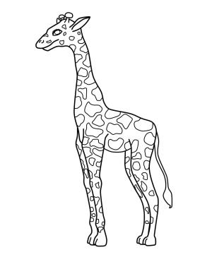 coloring pages giraffe printable simple drawing easy colouring template sketch clipart children getdrawings exceptional