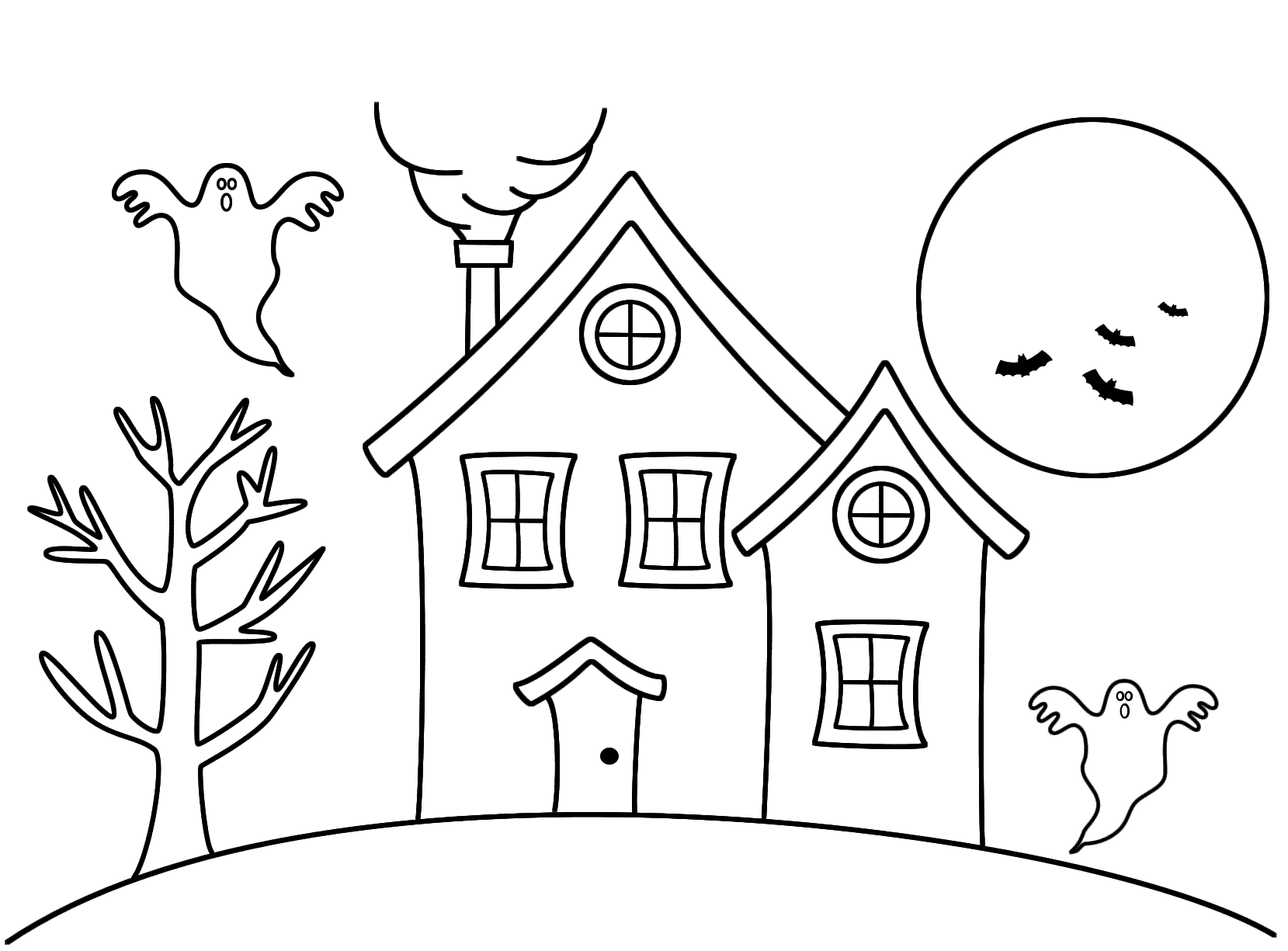 Simple Haunted House Drawing At Getdrawings