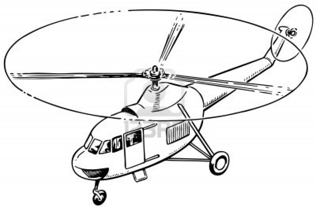 Simple Helicopter Drawing At Getdrawings