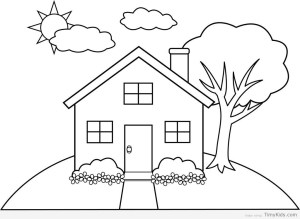 drawing simple colouring pages getdrawings