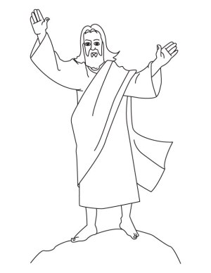 jesus coloring pages easy simple printable drawing birth easter tempted jumbo clouds colouring clipart getdrawings way library getcolorings popular margaret