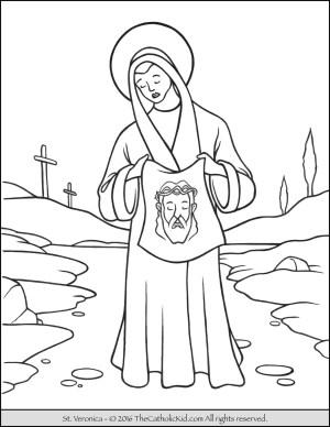 coloring jesus pages catholic veronica saint st saints simple printable francis drawing peter kid crimson tide john children alabama baptist