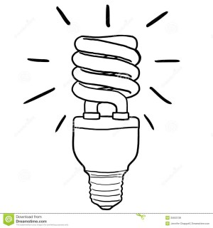 bulb drawing energy clipart saving efficient lamp line lightbulb simple drawings bulbs realistic getdrawings fluorescent clipground