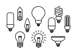 bulb vector icon line drawing simple lamps lamp lighting clipart vectors 1959 leaders since