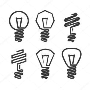 bulb drawing simple abstract bombilla resumen icono matc icon getdrawings ilustracion
