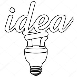 bulb drawing idea vector outline illustration simple lightbulb bulbs lamp drawn clipart clipartpanda lightbulbs getdrawings google depositphotos hand