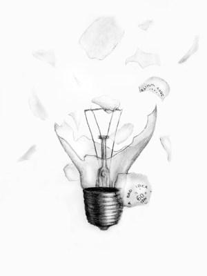bulb drawing simple broken take mmu portfolio idea bad getdrawings