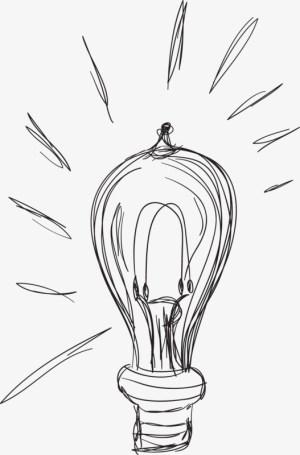 drawing pencil bulb getdrawings bulbs simple vectors clipart psd forgetmenot pngtree