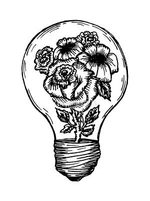 drawing bulb lightbulb simple getdrawings