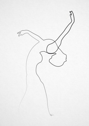 line drawing single continuous dancer quibe illustrations simple minimal sketch amazing artists dance pencil abstract illustration wall stroke getdrawings form