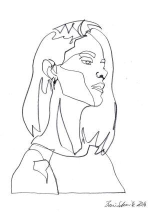 line drawing drawings continuous face woman contour simple schmitz boris artists gaze sketches artist getdrawings sketchbook earth faces explore result