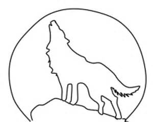 moon wolf howling drawing simple coloring draw step head drawings clipartbest wolves pages template clip drawn sketch cliparts getdrawings deviantart