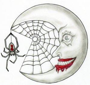 scary moon easy creepy drawing simple eyes drawings festival getdrawings eyeball