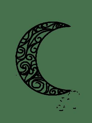 moon crescent tribal tattoos drawing tattoo simple half deviantart drawings getdrawings tattoodaze