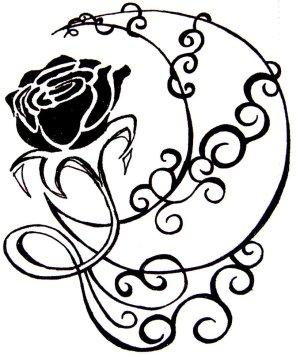 moon drawing rose stars tattoo crescent simple xx deviantart tattoos eyes drawings clipart star half designs eye moons sun imvu