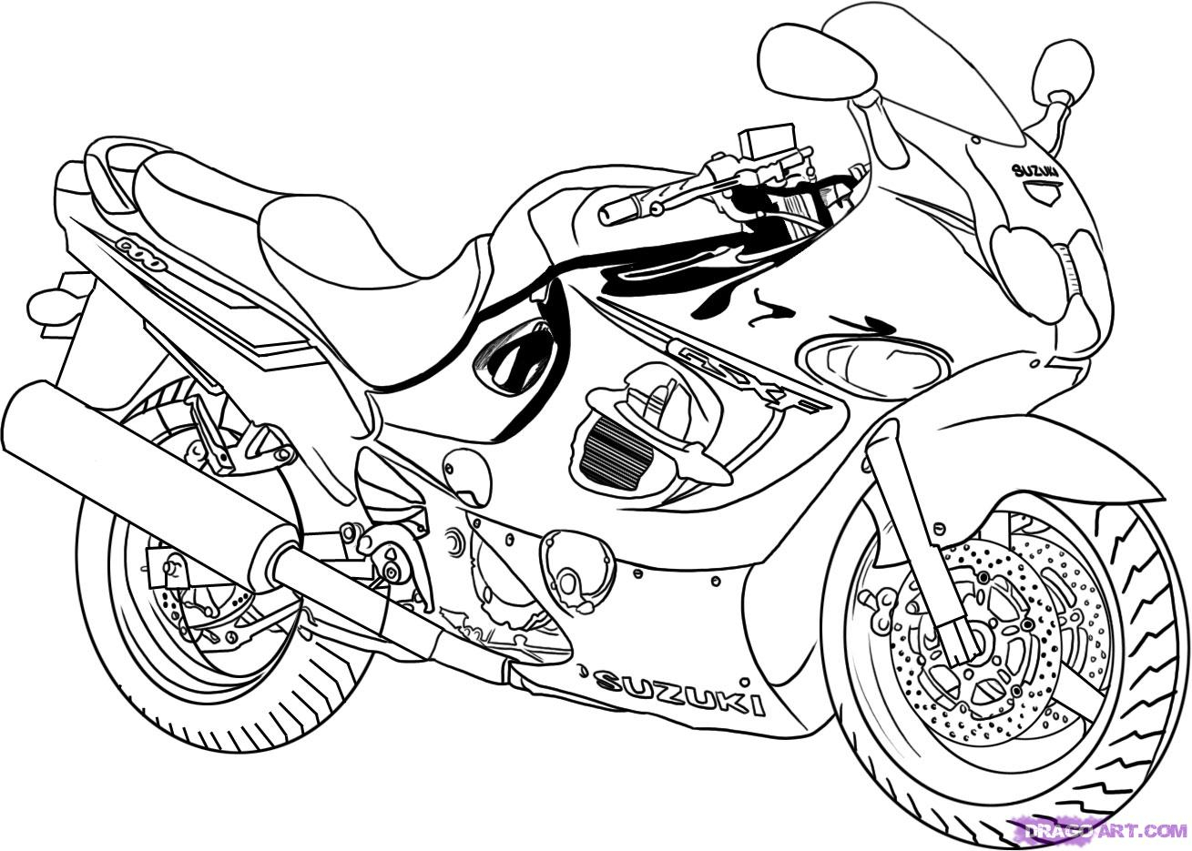 1309x935 motorcycle drawing step by step how to draw a sport bike 2006
