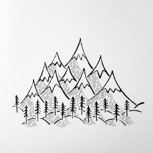 mountain drawing simple easy drawings organic cluster sketches cool bon call doodles climbing sketch burning wood getdrawings beginners paintings lumberjack