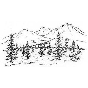 mountain drawing sketch mountains drawings simple landscape line trees google nature pencil tattoo sketches doodle idea visit