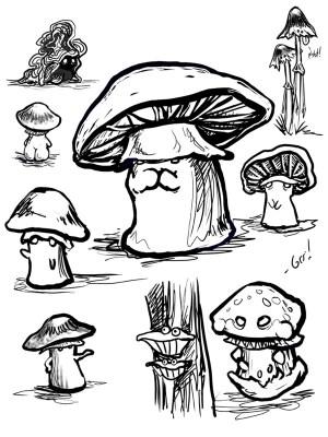 mushroom simple doodles getdrawings drawing