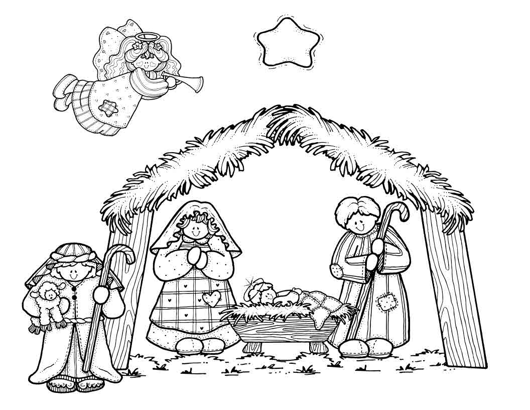 Simple Nativity Scene Drawing At Getdrawings