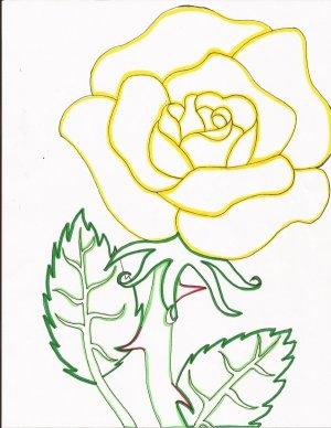 rose line drawing simple yellow getdrawings