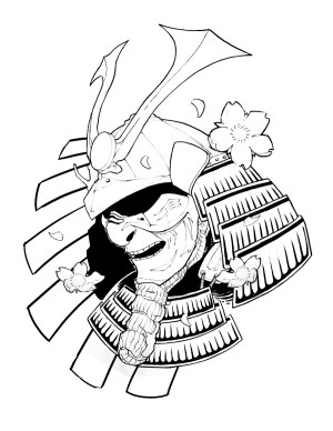 samurai drawing simple tattoo mask helmet tattoos getdrawings