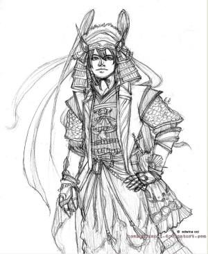 samurai drawing simple warriors sketches getdrawings ohh random