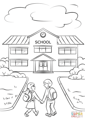coloring going boy pages drawing printable simple supercoloring getdrawings education report card preschool sketch colouring building sheets science holding child