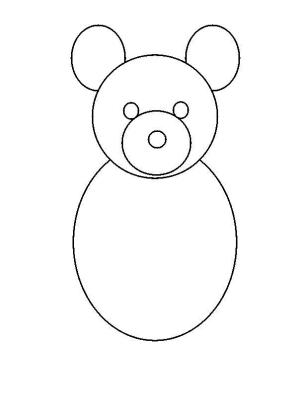 bear draw simple step teddy drawing shape steps shapes easy circle eyes drawings circles figure getdrawings side larger shown studyvillage