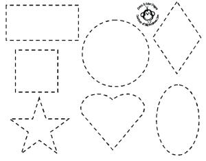 shapes drawing simple basic coloring pages getdrawings