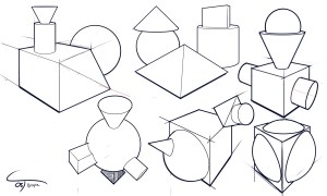 shapes simple sketch drawing d05 cube pyramid getdrawings complx sketchbook cylinder deviantart
