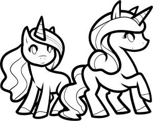 unicorn drawing simple getdrawings