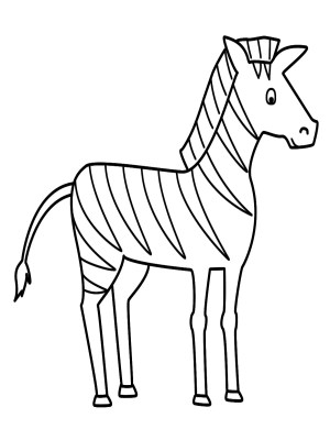 zebra coloring pages drawing simple sketch animals line easy printable zebras animal colouring getdrawings drawings outline step sketches paintingvalley sheets