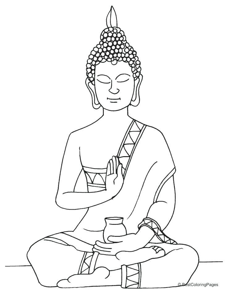 Sitting Buddha Drawing at GetDrawings Free download