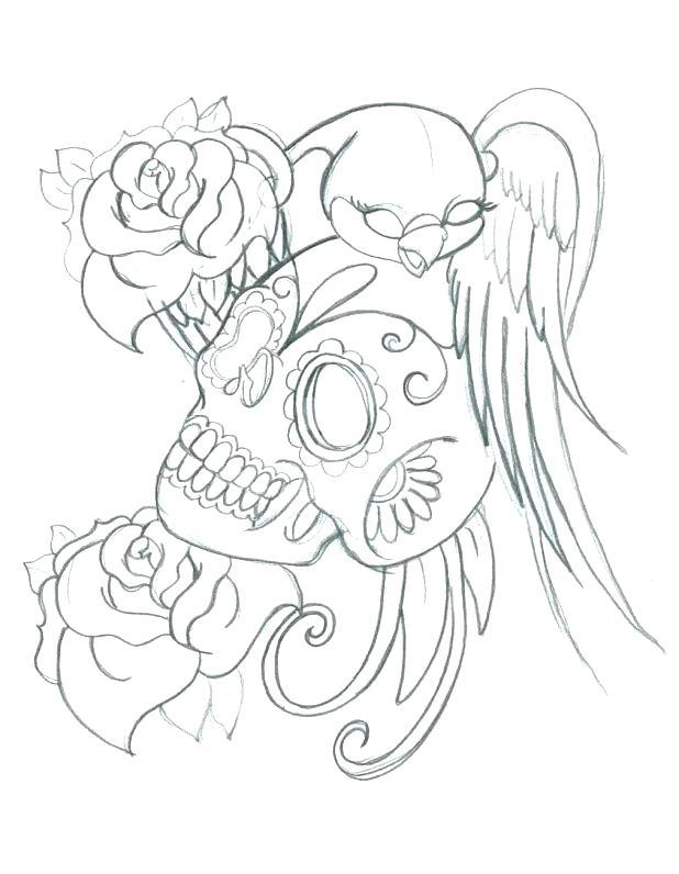 skull rose drawing at getdrawings  free download