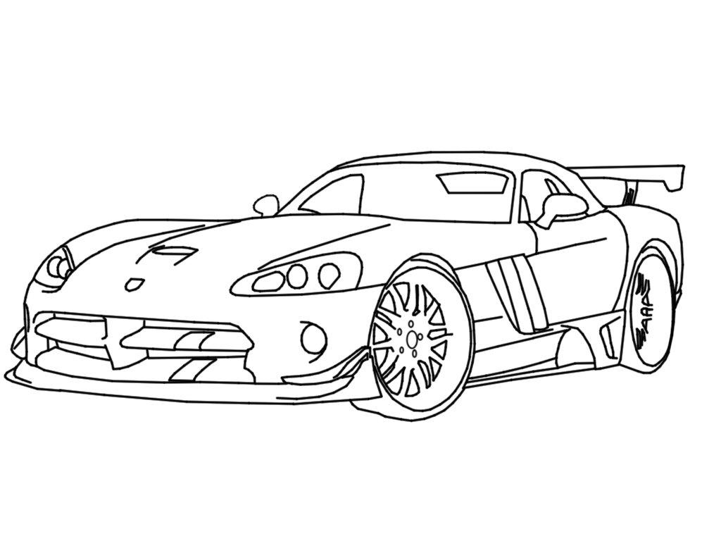 Vsport White Dodge Viper