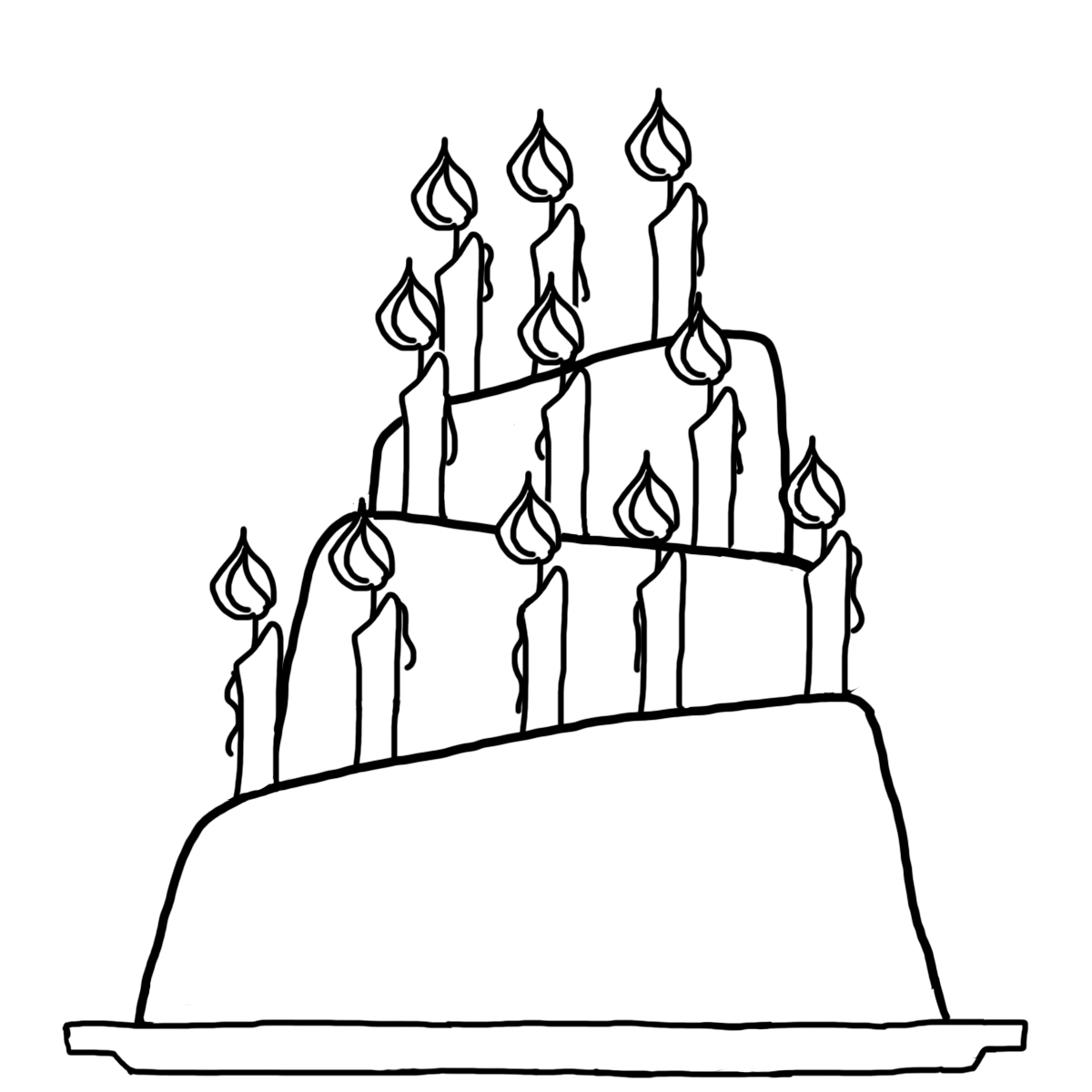 hight resolution of 1200x1200 drawn birthday slice