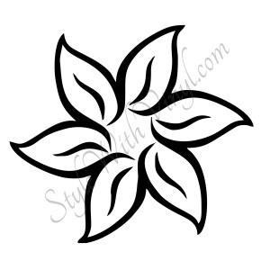 flower easy drawings drawing flowers simple draw getdrawings