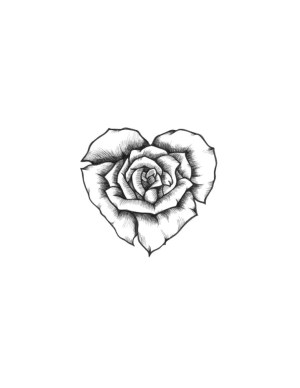 rose tattoos flower flowers tattoo drawing heart sketch drawings roses sketches mini bud draw designs skull smal 3d step discover