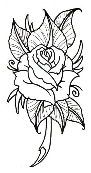 rose drawing outline getdrawings