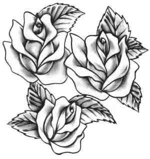 rose drawing tattoo stencil designs getdrawings