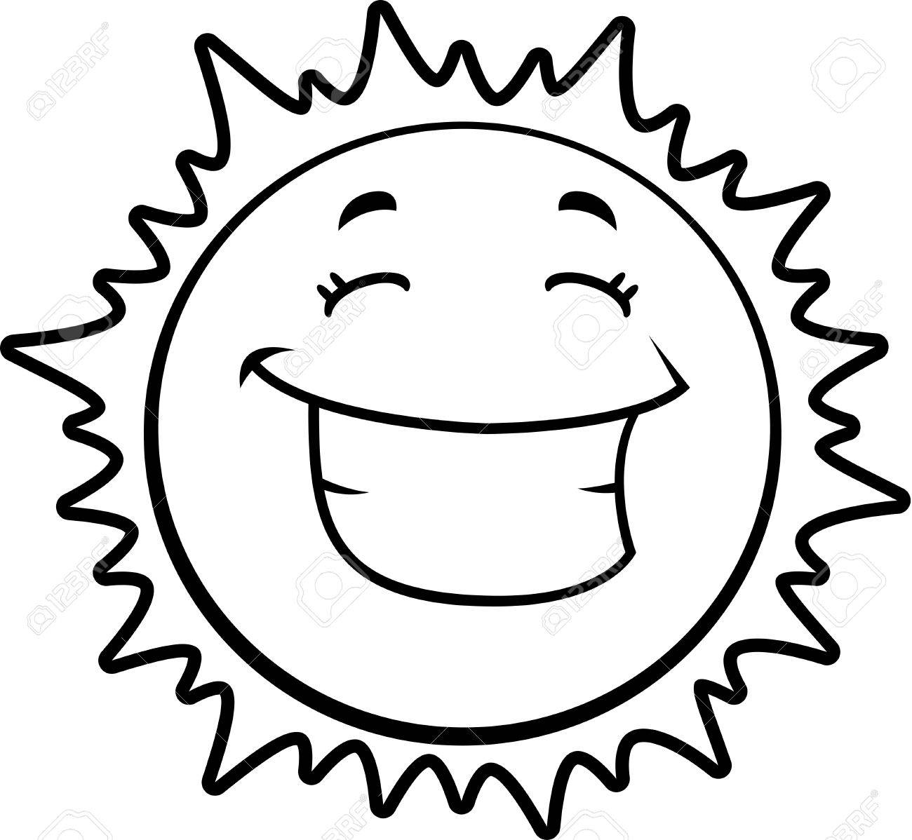 Smiling Sun Drawing At Getdrawings
