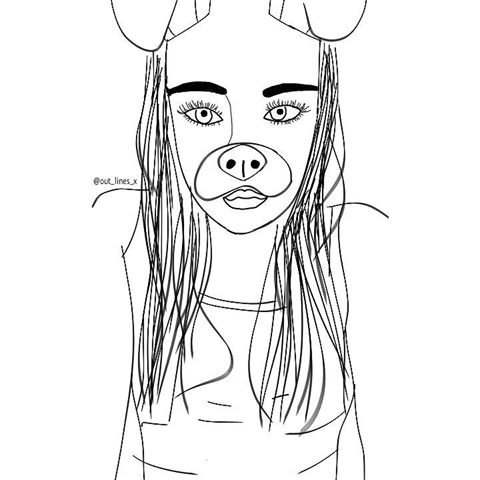 Snapchat Coloring Outline Pages Sketch Coloring Page