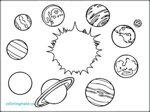 solar system drawing planets getdrawings coloring