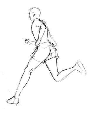 How To Draw Someone Running : someone, running, Someone, Running, Drawing, GetDrawings, Download