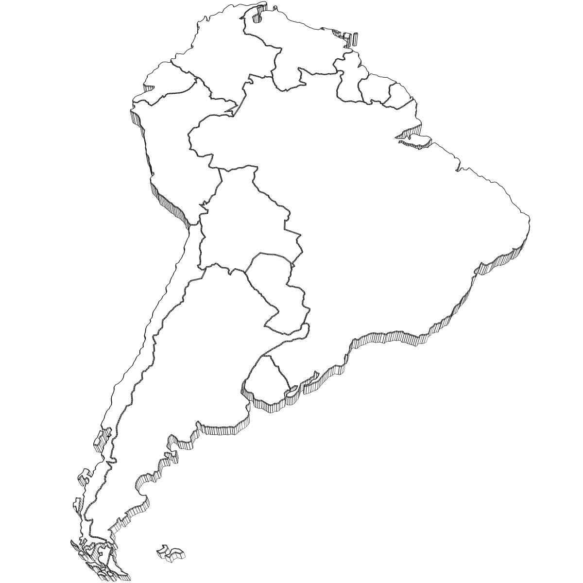 South America Drawing At Getdrawings