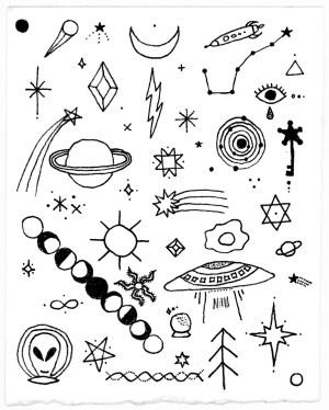 space outer drawing drawings breakfast getdrawings paintingvalley